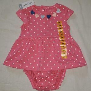 Carters babygirl onesie dress (6m)